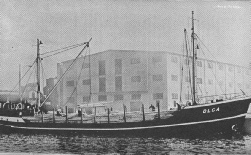 MS Olga before being converted to a radio ship