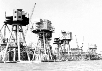 Shivering Sands Fort under construction