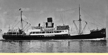 Fredericia as a Danish passenger ferry