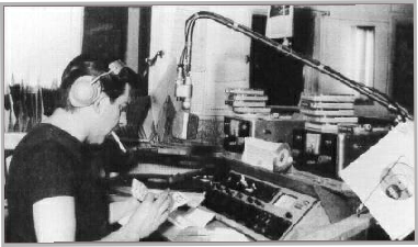 Don Allen on air in Caroline North studio