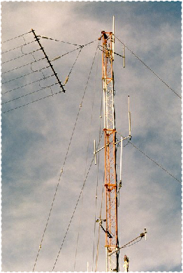 Aerial mast on MV Hatzvi