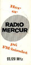 Radio Mercur's first publicity brochure