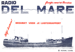 Radio Delmare QSL card