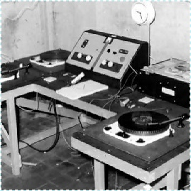 The home-built studio used by Radio Invicta