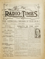 Cover of the first Radio Times