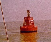 Trinity House buoy marking wreck of Mi Amigo